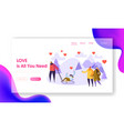 man character love woman winter landing page vector image vector image