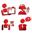 market service icons set vector image