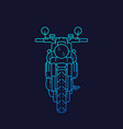 motorcycle retro motorbike linear art vector image