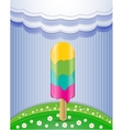 Nature with ice cream vector image