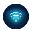 neon modern wifi sign rounded icon eps10 vector image vector image
