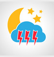 night thunderstorm weather icon vector image vector image