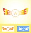 Orange wings logo w letter vector image