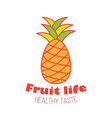 pineapple fruit logo design vector image vector image