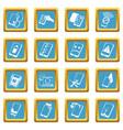 repair phones fix icons set sapphirine square vector image vector image