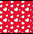 seamless pattern with white hearts vector image