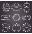 set of white retro styled ornamental frames vector image