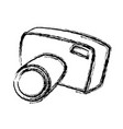sketch camera photo picture equipment tourism vector image vector image