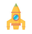 space rocket flat design colored vector image vector image