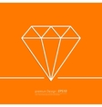 Stock Linear icon diamond vector image vector image