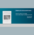 template with gas stove with oven for vector image vector image