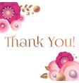 thank you gratitude card template with cute vector image vector image