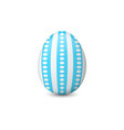 the decorated easter egg vector image vector image
