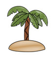 tropical island with palm vector image vector image