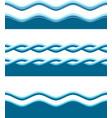 water waves vector image vector image