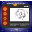 web site about horses vector image