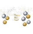 christmas decorative bauble on white background vector image