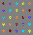 Design shield color icons on gray background vector image