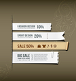White paper collections design vector image