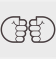 two hand clenched into a fist vector image