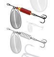 artificial fishing lure vector image
