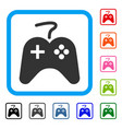 game pad framed icon vector image