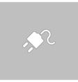 Power cord computer symbol vector image