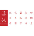 15 pharmaceutical icons vector image vector image