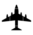 Airplane symbol icon on white vector image vector image