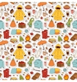 autumn items seamless pattern vector image vector image