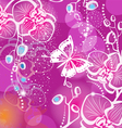 background with flowers orchid and butterfly vector image