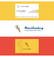 beautiful pop logo and business card vertical vector image