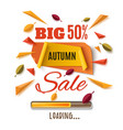 big autumn sale abstract banner vector image