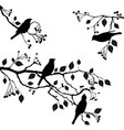 birds on branch - set elements vector image