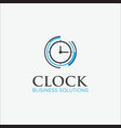 business logo modern clock vector image