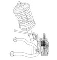 car suspension with shock absorber vector image vector image
