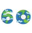 card for earth hour - global annual international vector image