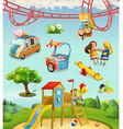 children playground outdoor games in park vector image vector image