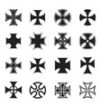 chopper cross icon set black and white vector image vector image