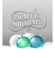 christmas baubles with a snow greeting card retro vector image vector image