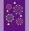 christmas firework decoration elements vector image vector image