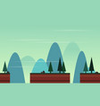 collection landscape beauty game backgeound vector image