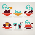common food in infographic style vector image vector image