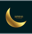 creative golden crescent moon for ramadan kareem vector image vector image