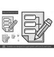 Data architecture line icon vector image vector image