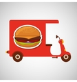 delivery motorcycle fast food burger vector image