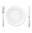Empty plate with knife and fork vector | Price: 1 Credit (USD $1)