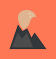 flat icon on stylish background volcano erupting vector image vector image