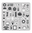 flat icons firefighting set vector image