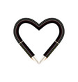 frame of pens heart love concept with vector image vector image